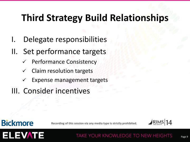 Third Strategy Build Relationships