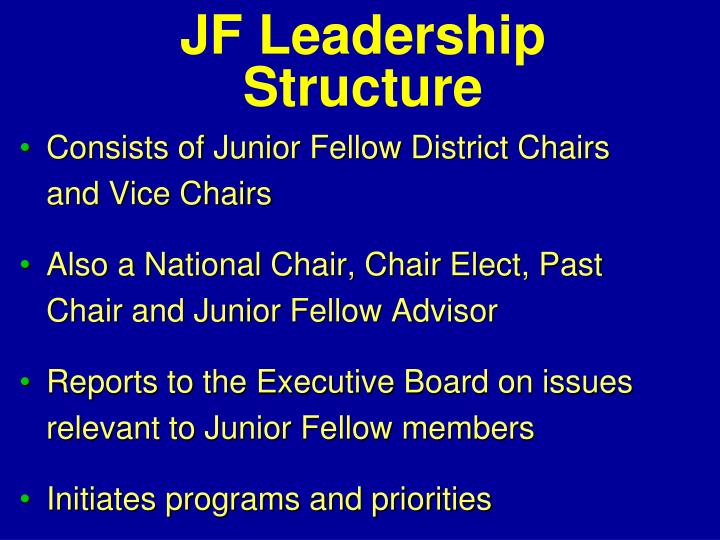 JF Leadership Structure