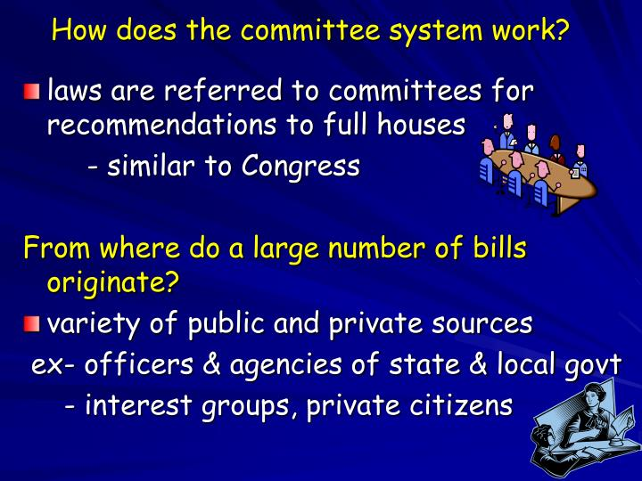How does the committee system work?