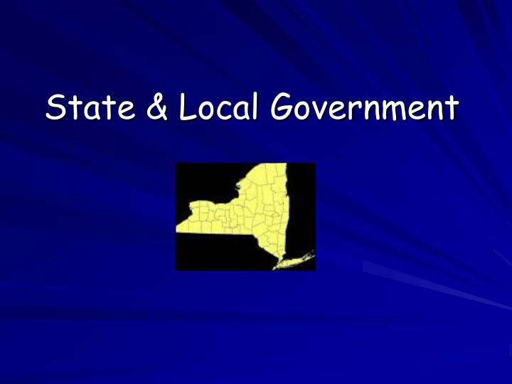 State local government