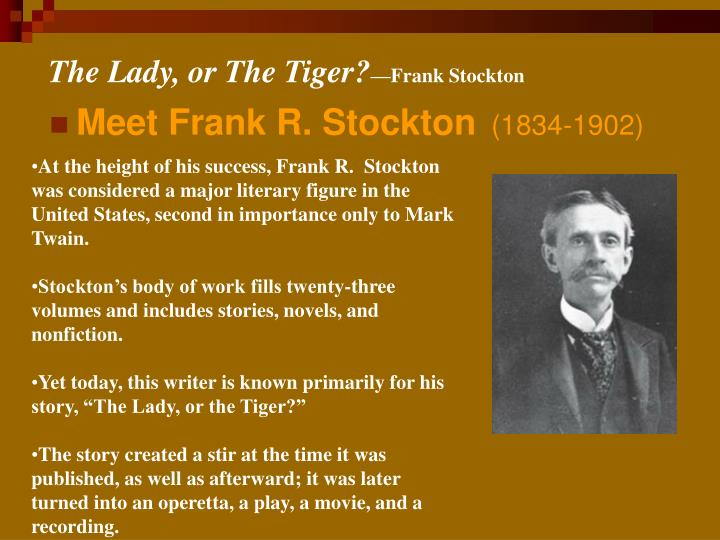The lady or the tiger frank stockton