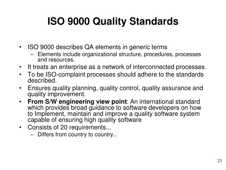 ISO 9000 Quality Standards