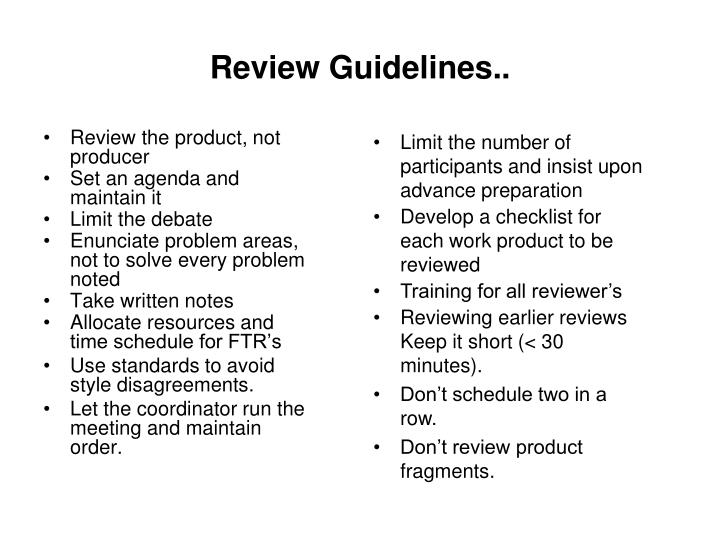 Review Guidelines..