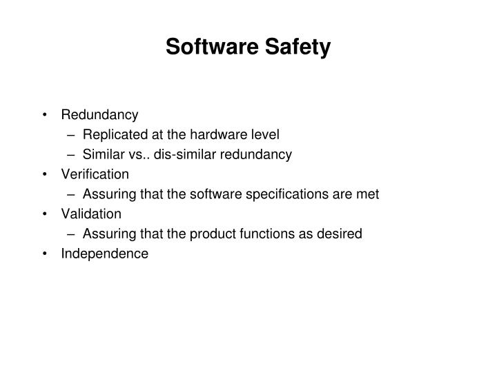 Software Safety