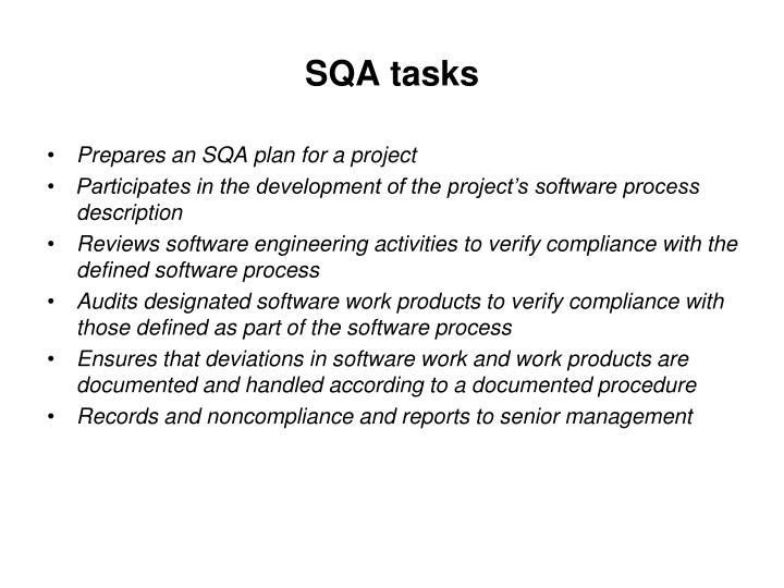 SQA tasks