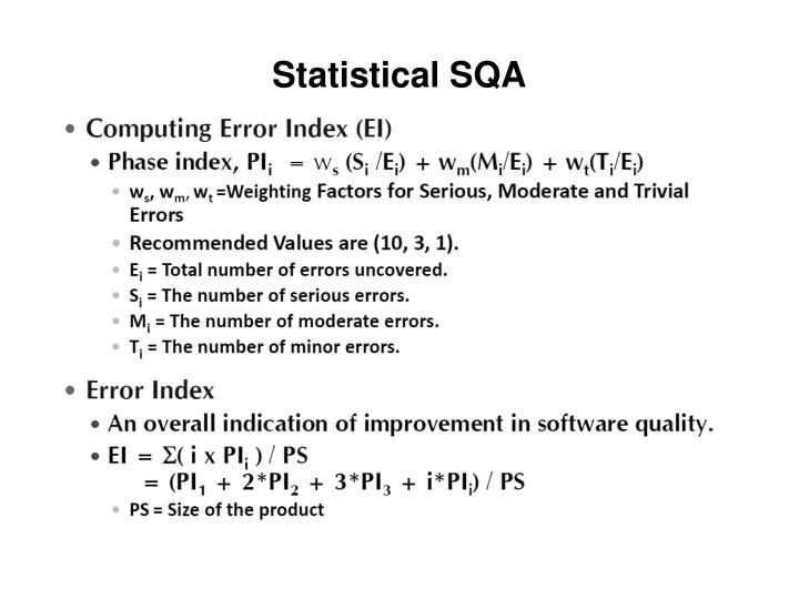 Statistical SQA