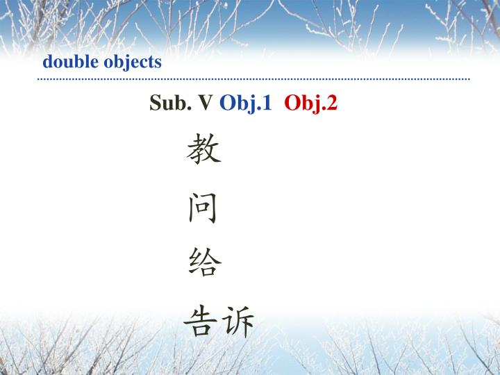 double objects