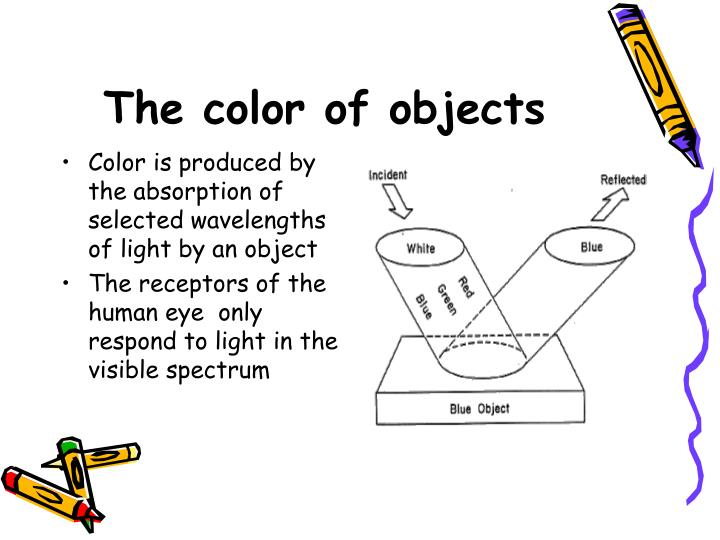 The color of objects