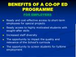 benefits of a co op ed programme
