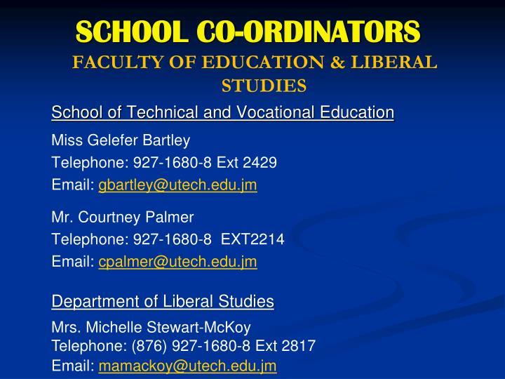 SCHOOL CO-ORDINATORS