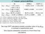 p 0 meson polarizabilities