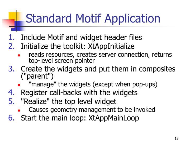 Standard Motif Application