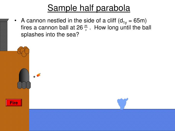 Sample half parabola
