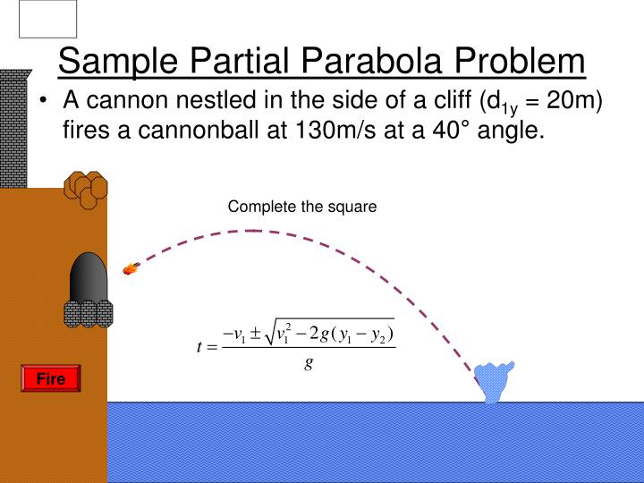 Sample Partial Parabola Problem
