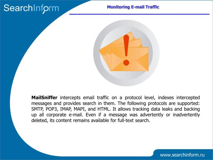 Monitoring E-mail Traffic