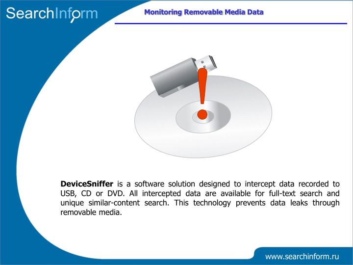 Monitoring Removable Media Data