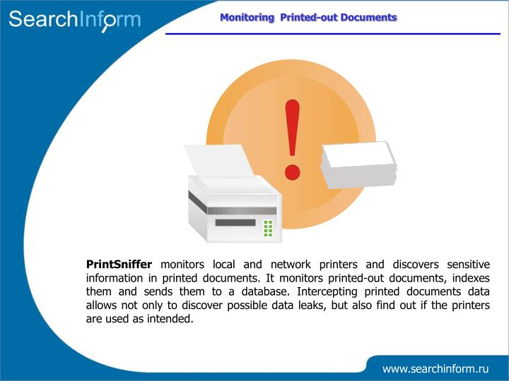 Monitoring  Printed-out Documents