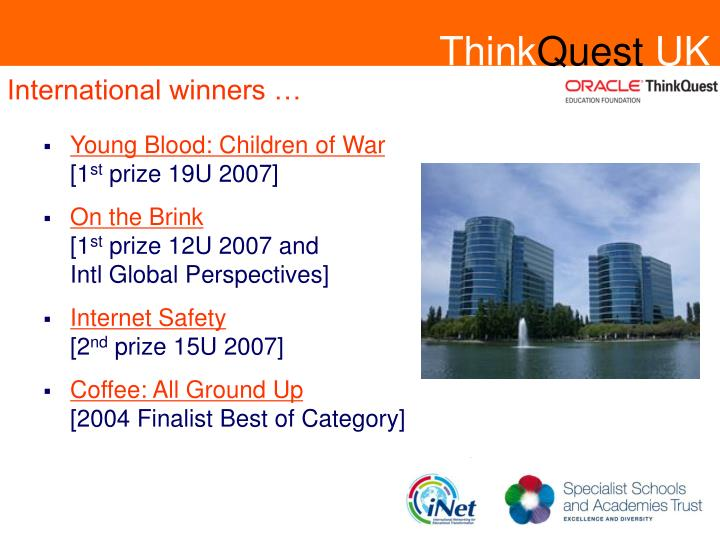 International winners …