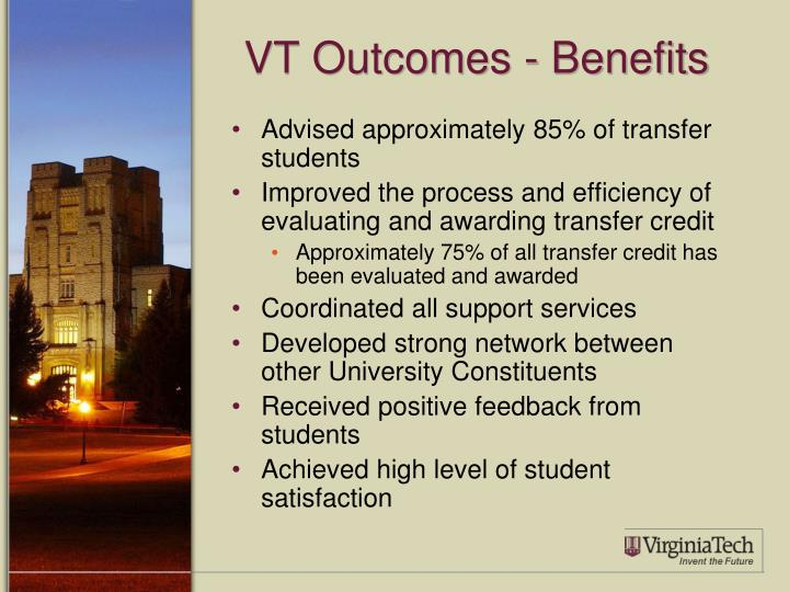 VT Outcomes - Benefits