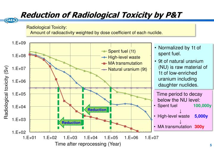 Reduction of Radiological Toxicity by P&T