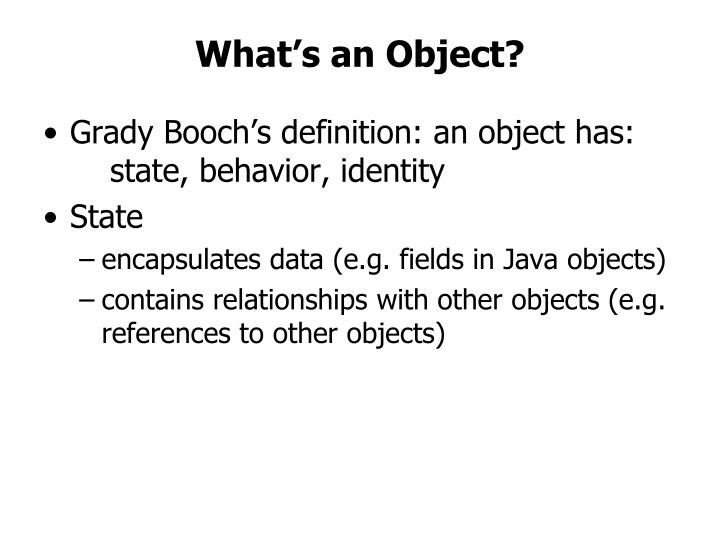 What's an Object?
