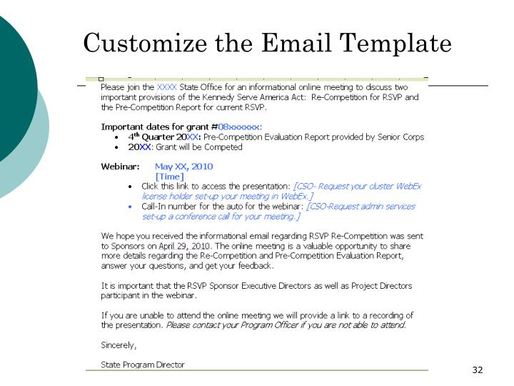 Customize the Email Template