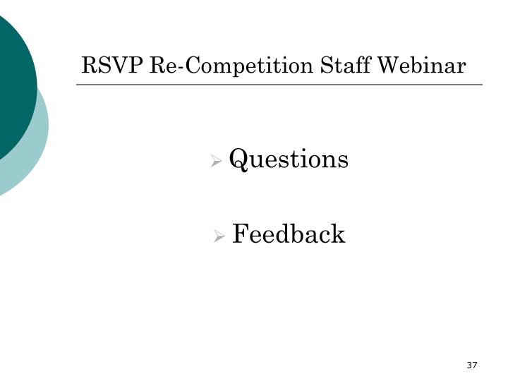 RSVP Re-Competition Staff Webinar