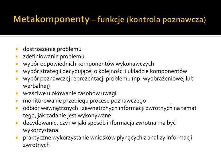 Metakomponenty