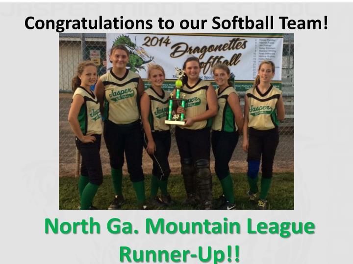 Congratulations to our Softball Team!