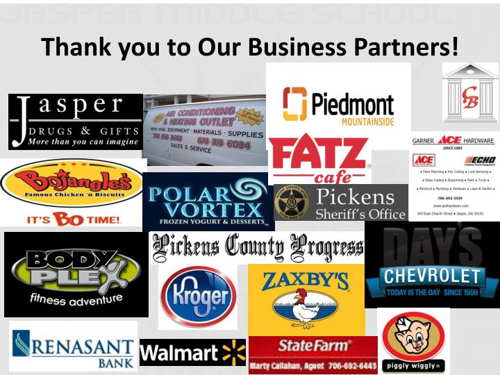 Thank you to Our Business Partners!