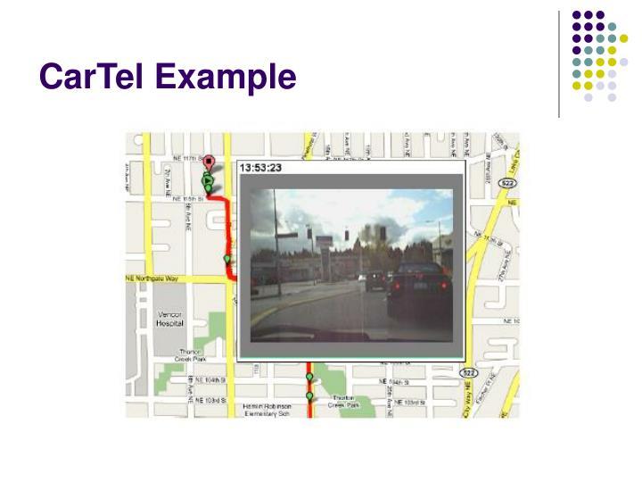 CarTel Example