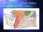 overview of the geologic history of washington state