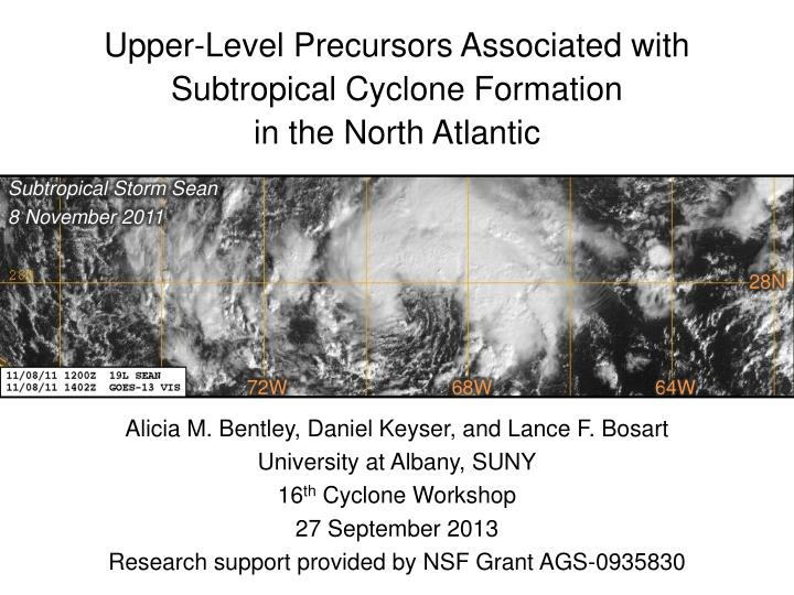 Upper-Level Precursors Associated with Subtropical Cyclone Formation