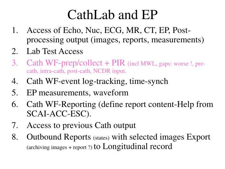CathLab and EP