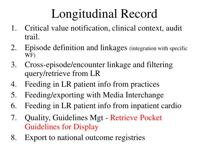 Longitudinal Record