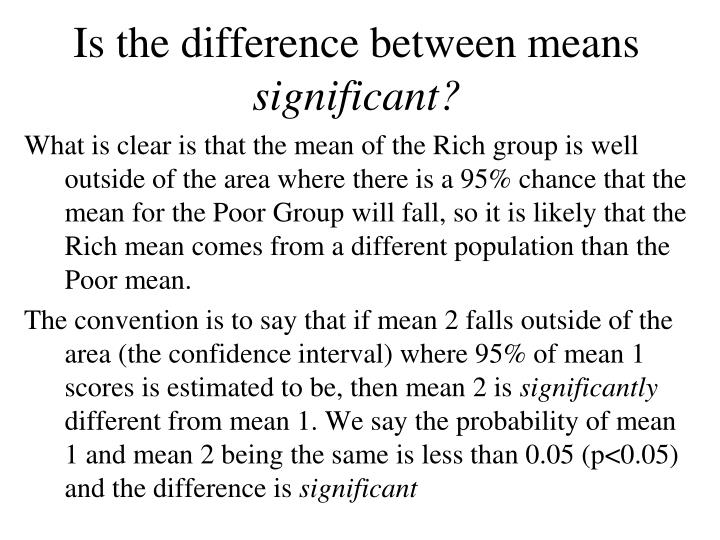 Is the difference between means