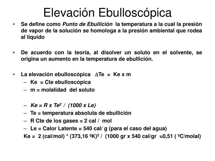 Elevacin Ebulloscpica