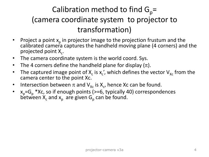 Calibration method to find G