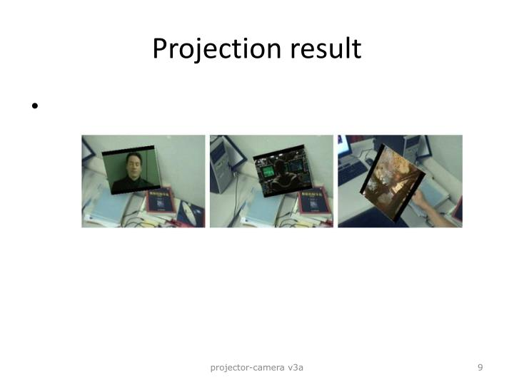 Projection result