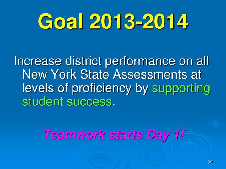 Goal 2013-2014