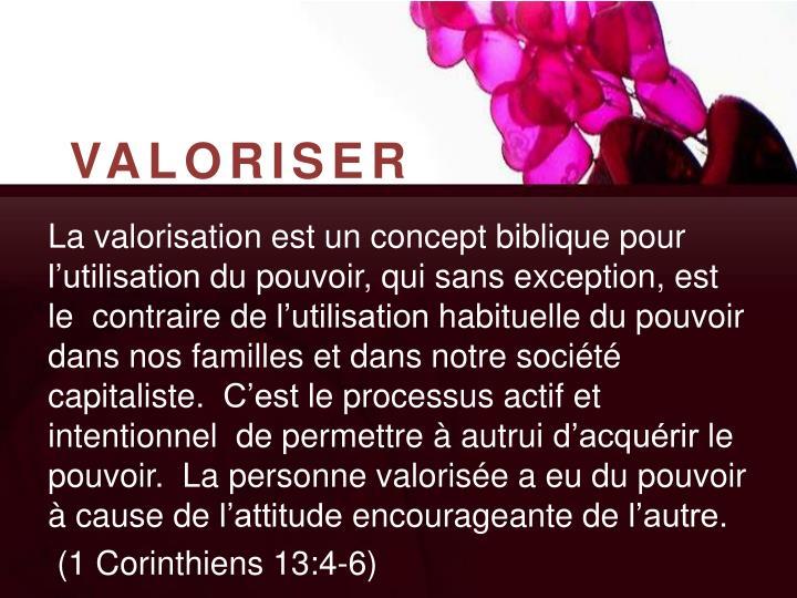 VALORISER