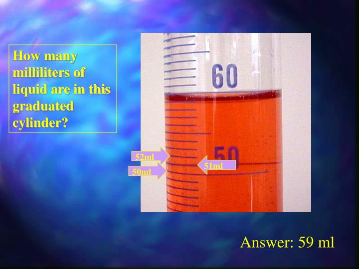 How many milliliters of liquid are in this graduated cylinder?
