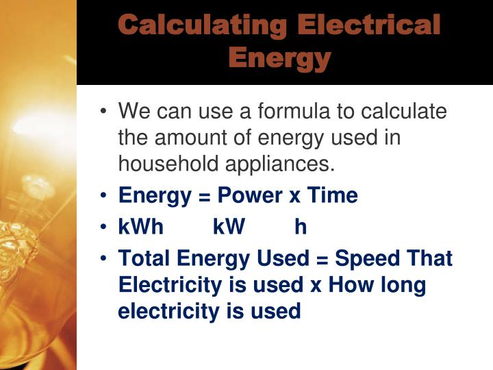 Calculating Electrical Energy