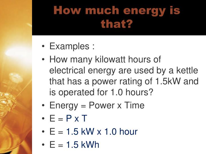 How much energy is that?