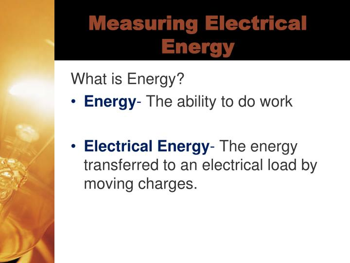 Measuring electrical energy1