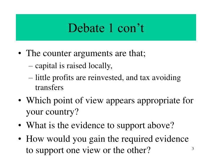 Debate 1 con't