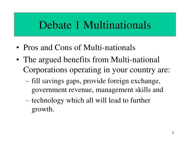 Debate 1 Multinationals