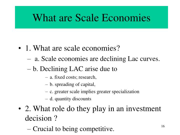 What are Scale Economies