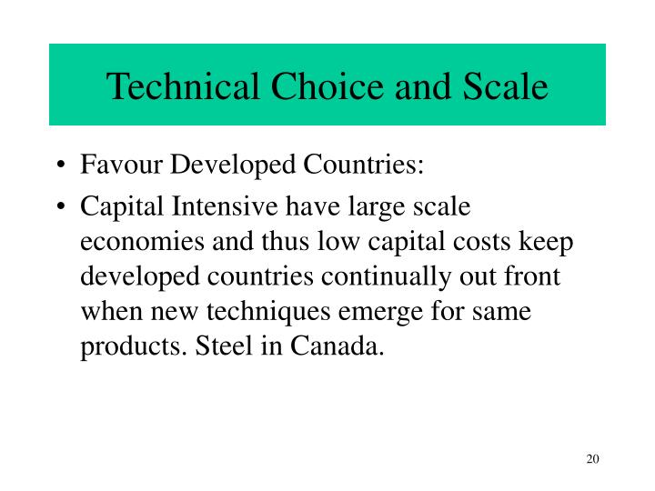 Technical Choice and Scale