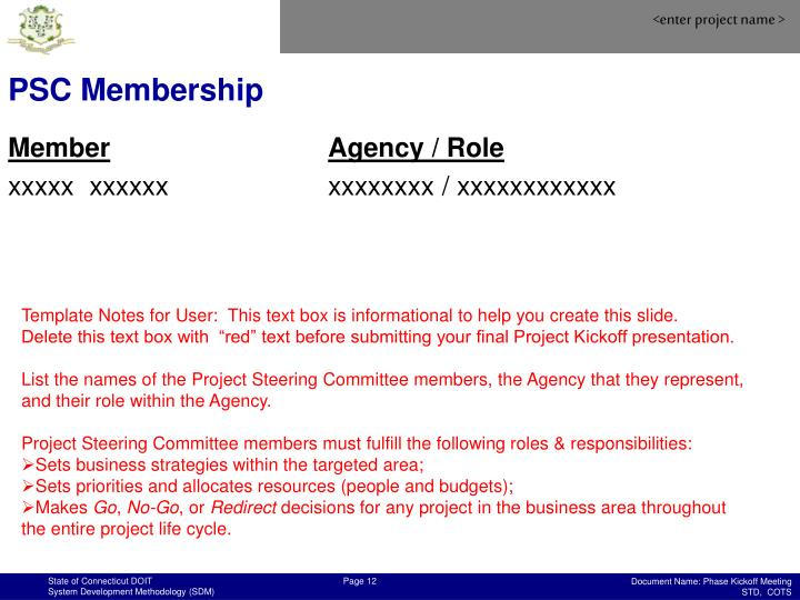 PSC Membership